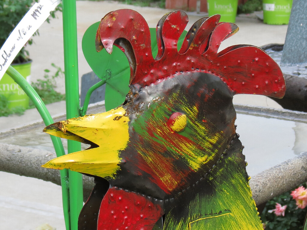Rooster Garden Art