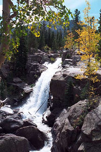 I like this photograph of Alberta Falls in Rocky Mountain National Park.
